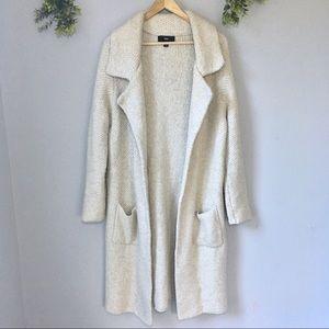 Knit duster jacket